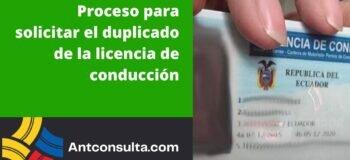 Cómo solicitar el duplicado de la licencia de conducción