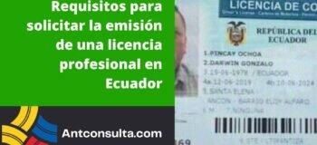 Requisitos para solicitar una licencia profesional