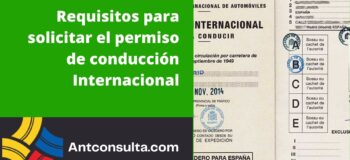 Pasos para emitir el permiso internacional de conducción